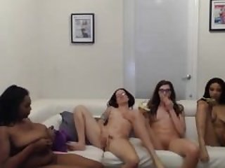 four crazy lesbians fuck and..